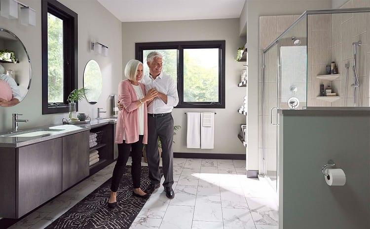 Senior Couple in Bathroom