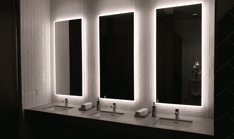 Three Backlit LED Mirrors