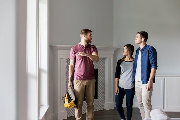 Couple Hiring A Renovation Contractor